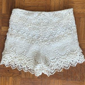 Urban outfitters kimchi blue crochet shorts